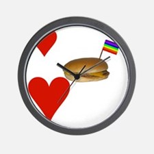 LoveCheeseburgersNGays-W Wall Clock