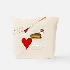 LoveCheeseburgersNGays-W Tote Bag