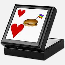 LoveCheeseburgersNGays-W Keepsake Box