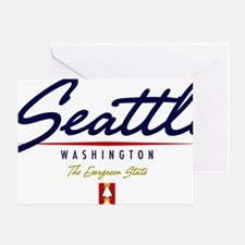 Seattle Script W Greeting Card