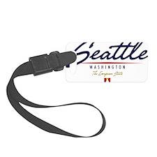 Seattle Script W Luggage Tag