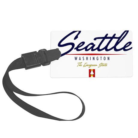 Seattle Script W Large Luggage Tag