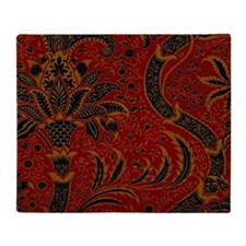 William Morris vintage design: India Throw Blanket