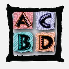 ACBDanimal2Final Throw Pillow