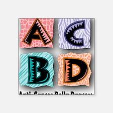 "ACBDanimal2Final Square Sticker 3"" x 3"""