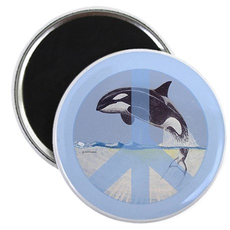 """Orca Peace 2.25"""" Magnet (10 pack)"""