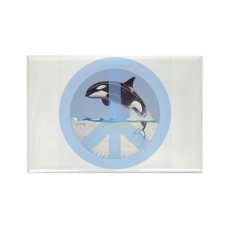 Orca Peace Rectangle Magnet
