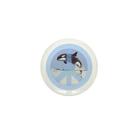 Orca Peace Mini Button