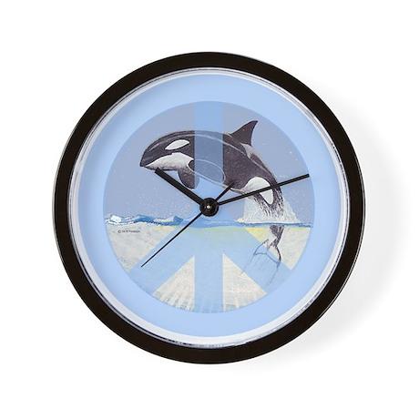 Orca Peace Wall Clock