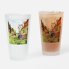 three-little-pigs Drinking Glass