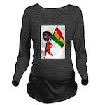 3D Ghana Long Sleeve Maternity T-Shirt