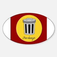 garbage Oval Decal