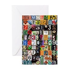 Places of Pi Greeting Card
