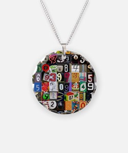Places of Pi Necklace Circle Charm