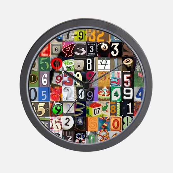 Places of Pi Wall Clock