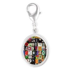 Places of Pi Silver Oval Charm