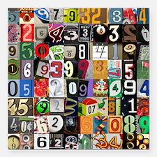 "Places of Pi Square Car Magnet 3"" x 3"""