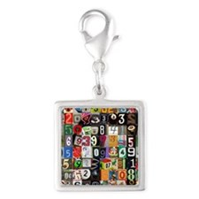Places of Pi Silver Square Charm