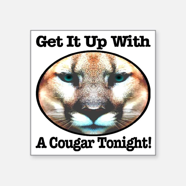 "getitupwith_acougartonight Square Sticker 3"" x 3"""