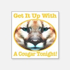 "getitupwith_acougartonight_ Square Sticker 3"" x 3"""