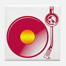 Vinyl Turntable 4 Tile Coaster
