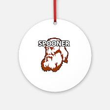 Spooner_whiteFront Round Ornament