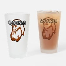 Spooner_whiteFront Drinking Glass