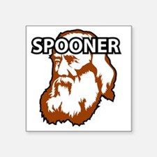 "Spooner_whiteFront Square Sticker 3"" x 3"""