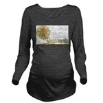 Palm Tree Guatemala Long Sleeve Maternity T-Shirt
