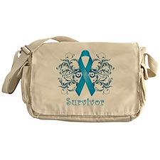 BlueCancerSurvivorDark Messenger Bag