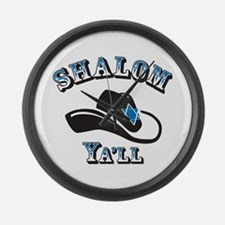 Shalom Yall Large Wall Clock