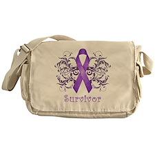 PurpleCancerSurvivorDark Messenger Bag