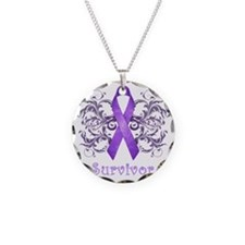 PurpleCancerSurvivorDark Necklace