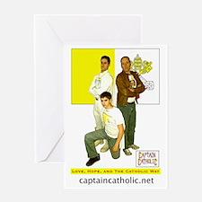 5-Commander Catholic, Captain Cathol Greeting Card