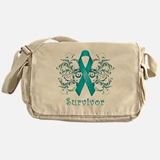 TealCancerSurvivorDark Messenger Bag