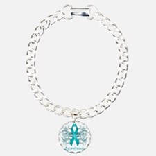 TealCancerSurvivorDark Charm Bracelet, One Charm