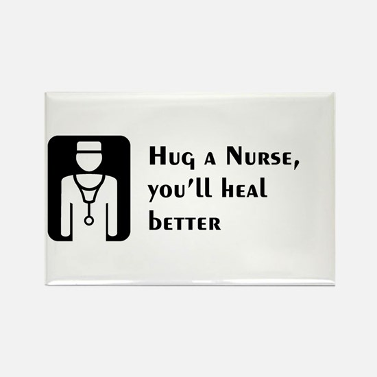 Hug a Nurse Rectangle Magnet (10 pack)