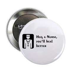 "Hug a Nurse 2.25"" Button (10 pack)"
