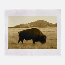 bisonabdark Throw Blanket