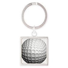 golf ball Square Keychain