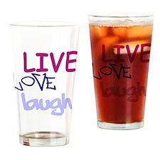 LLL Blue trans Drinking Glass