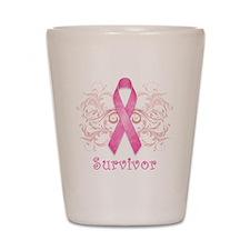 PinkCancerSurvivor Shot Glass