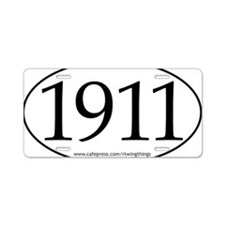 1911 oval sticker PATHS.eps Aluminum License Plate