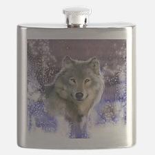 wolf 10x10 Flask