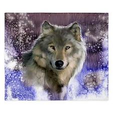 wolf 10x10 King Duvet