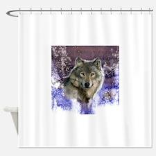 wolf 10x10 Shower Curtain