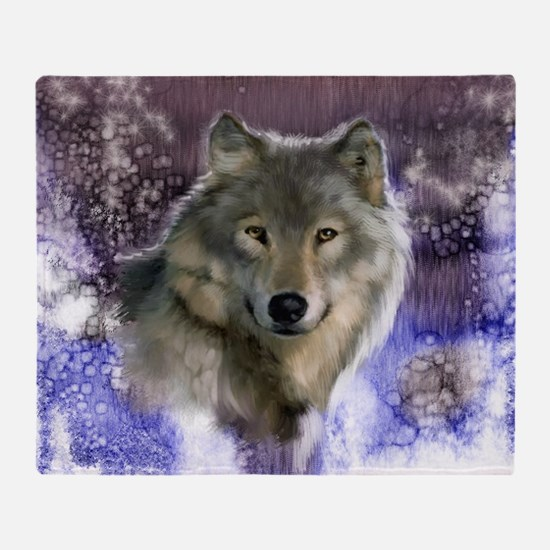 wolf 10x10 Throw Blanket