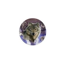 wolf 10x10 Mini Button