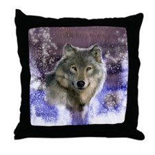 wolf 10x10 Throw Pillow