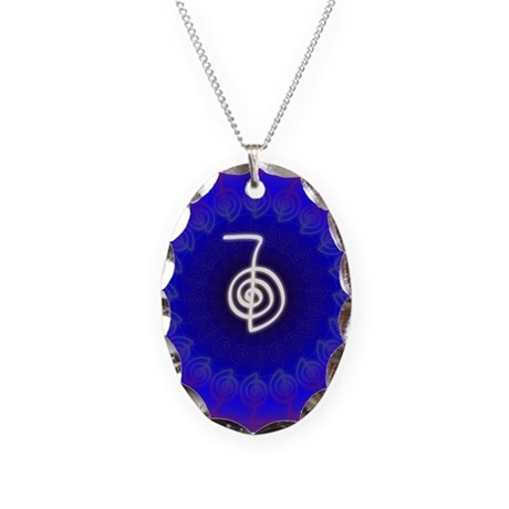Cho-Ku-Rei-Reiki-Color-field Necklace Oval Charm